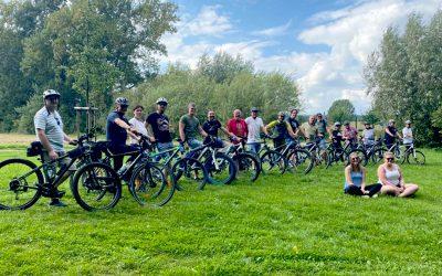 Als Team energieeffizient mit dem Rad auf Tour